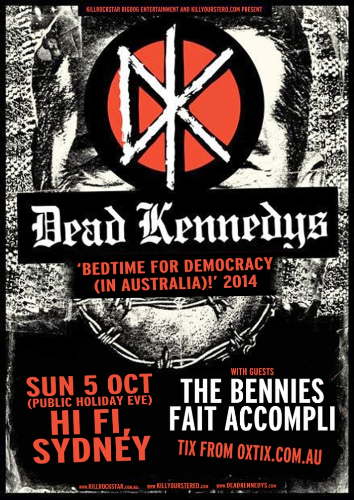 DEAD KENNEDYS THE BENNIES FAIT ACCOMPLI POSTER WEB