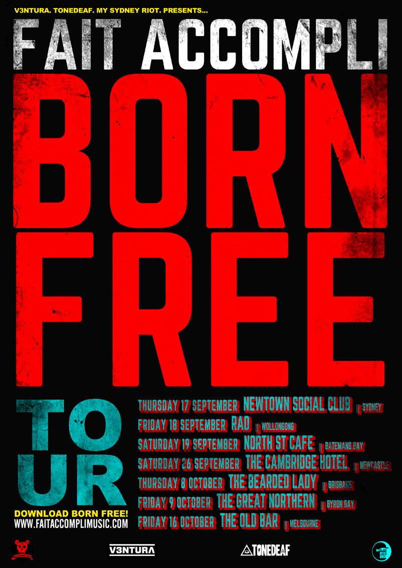 BORN FREE TOUR POSTER WEB