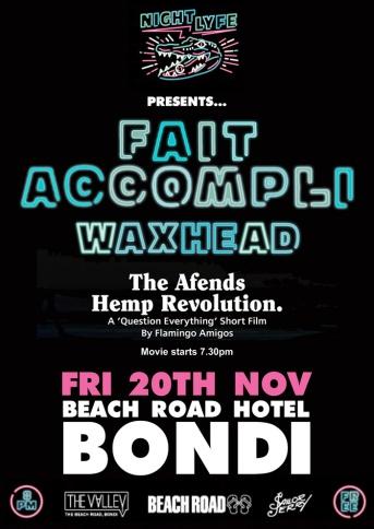 FAIT ACCOMPLI beach rd hotel WEB